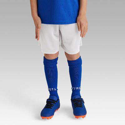 Short de football enfant F100 blanc