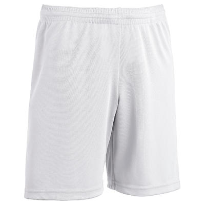 Short de football enfant F100 blanc