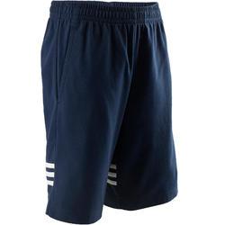 Pantalón Corto Chándal Gimnasia Adidas G2 S1 Niño Franjas blancas Azul