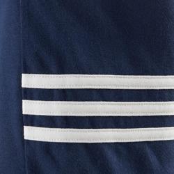 Short voor jongens met de 3 Adidas-strepen blauw