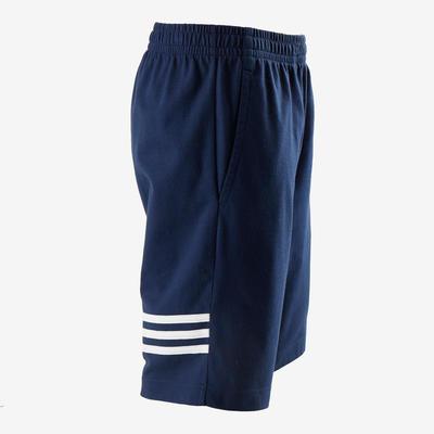 Short garçon bleu avec les 3 bandes adidas