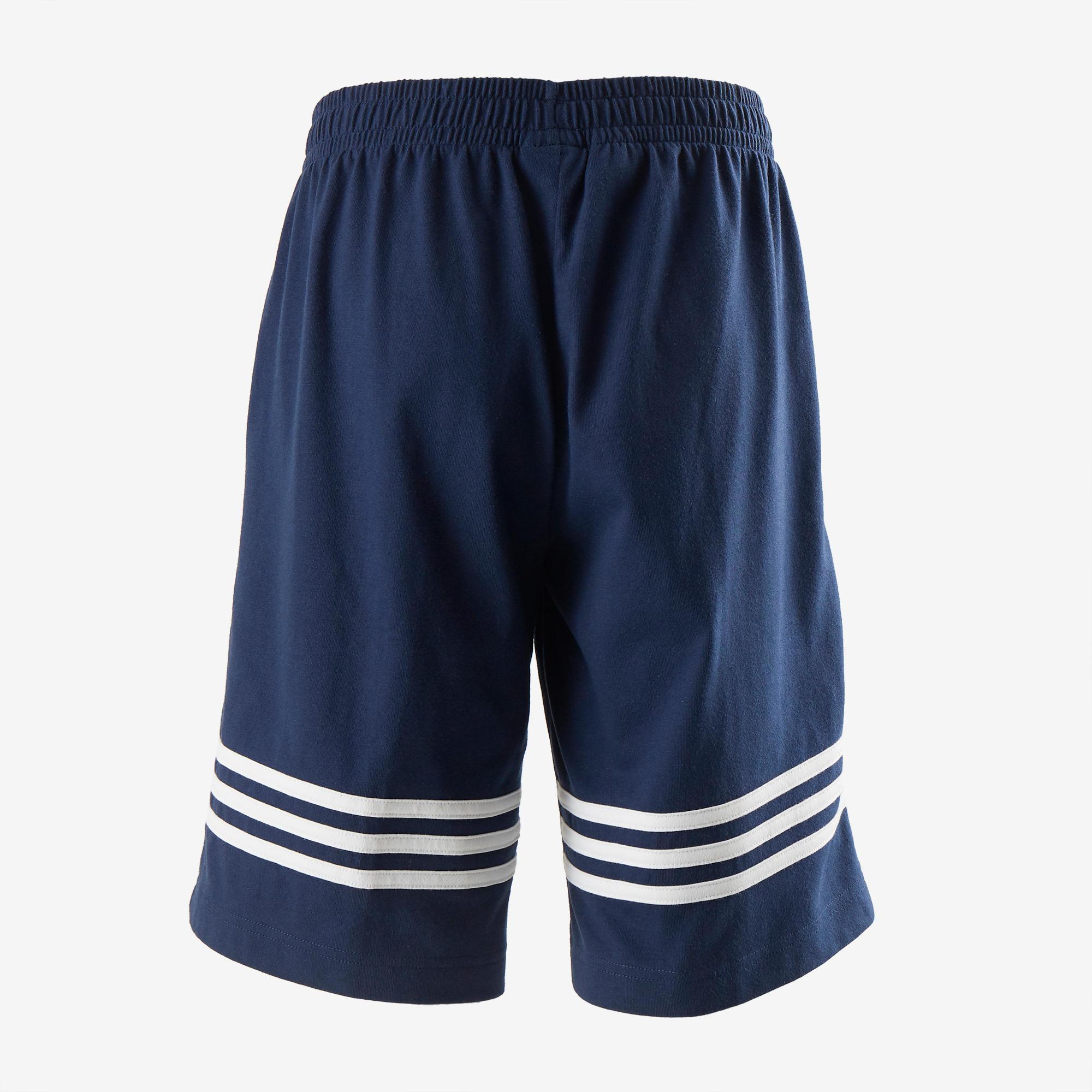 Bolsillos Gimnasia Y Azul Adidas Pantalón Niño De Algodón Corto nwCqCYU6 ee89fc071a63