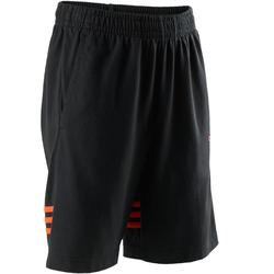 Pantalón corto chándal Gimnasia Adidas S1 Niño Franjas Naranjas Negro