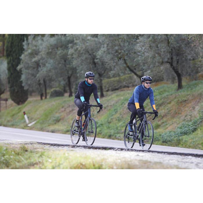 MAILLOT MANCHES LONGUES HOMME TPS FRAIS CYCLOTOURISME RC100 NOIR BLEU TURQUOISE