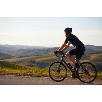 Fietsbroek racefiets wielertoerisme voor heren RC100 zonder bretellen zwart