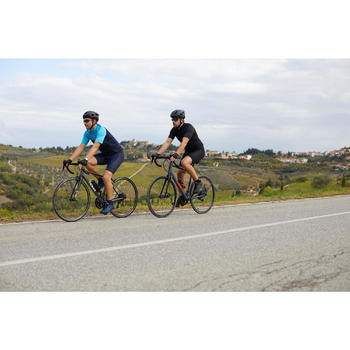 Radtrikot kurzarm Rennrad RC 100 Herren blau