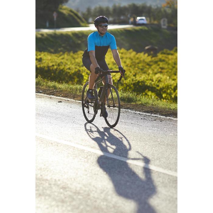 MAILLOT MANCHES COURTES TPS CHAUD VELO ROUTE HOMME CYCLOTOURISME RC100 BLEU