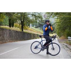MAILLOT MANCHES LONGUES HOMME TPS FRAIS CYCLOTOURISME RC100 BLEU FONCE ORANGE
