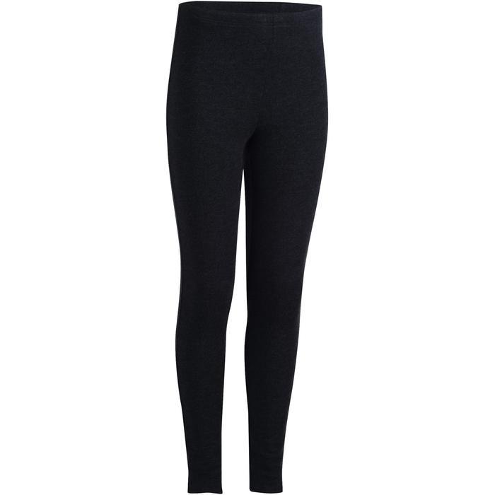 100 Warm Girls' Gym Leggings - Grey