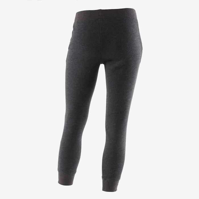Girls' Warm Gym Bottoms 100 - Dark Grey Print