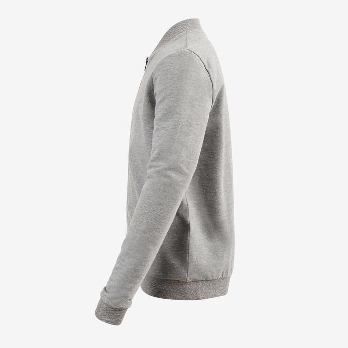 100 Boys' Gym Warm Jacket - Grey