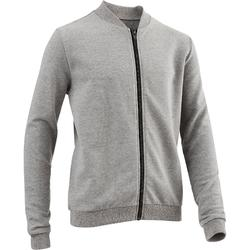 100 Boys' Gym Warm Jacket - Grey