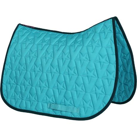 Tapis De Selle Quitation Star Turquoise Taille Poney Et Cheval Fouganza