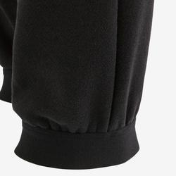 Warme joggingbroek voor gym jongens 100 zwart