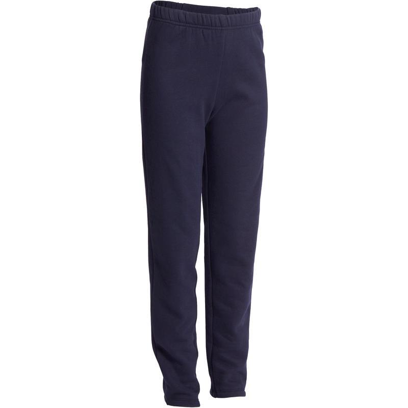 Pantalon Largo Conjunto Gimnasia Domyos 100 Nino Azul Marino