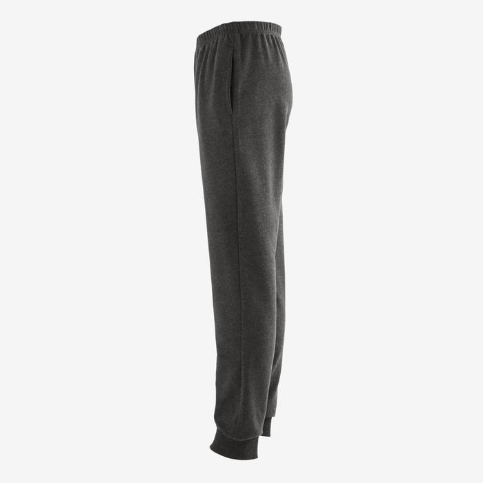 100 Boys' Warm Regular-Fit Gym Bottoms - Dark Mottled Grey