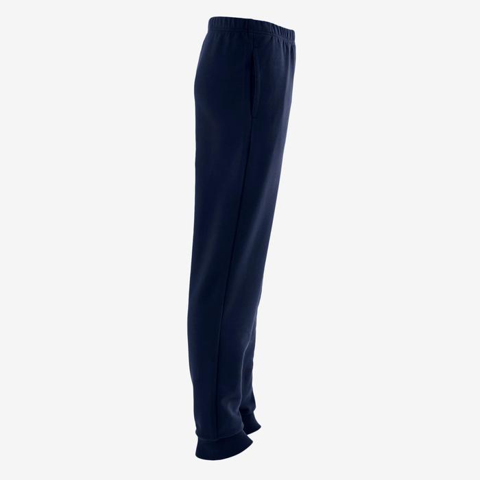 男童標準剪裁保暖健身長褲100 - 雜軍藍色