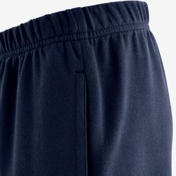 100 Boys' Warm Regular-Fit Gym Bottoms - Mottled Navy Blue