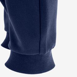 100 Boys' Warm Regular-Fit Gym Bottoms - Mottled Navy Blue