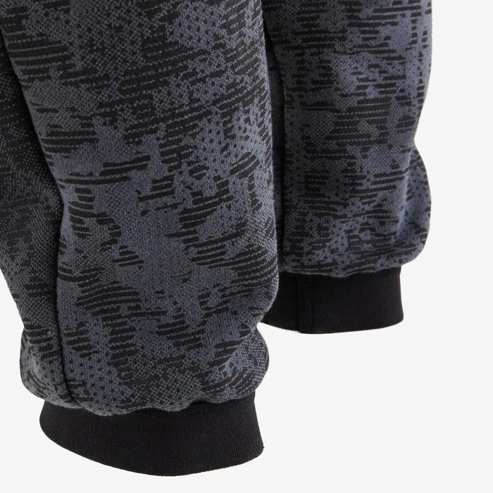 Pantalon regular chaud 100 garçon GYM ENFANT noir AOP