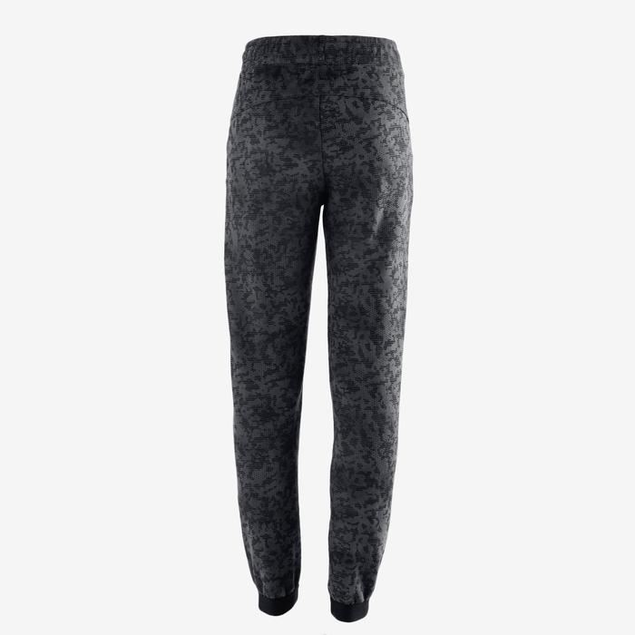 Pantalon large chaud 100 garçon GYM ENFANT gris imprimé