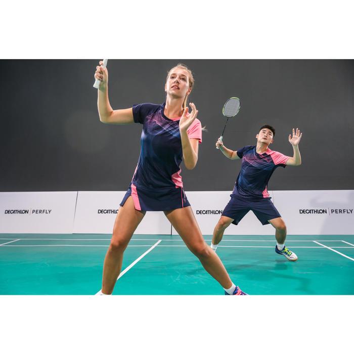 T-Shirt de Badminton Homme 560 - Marine/Rose