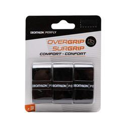 Overgrip badminton Comfort zwart set van 3