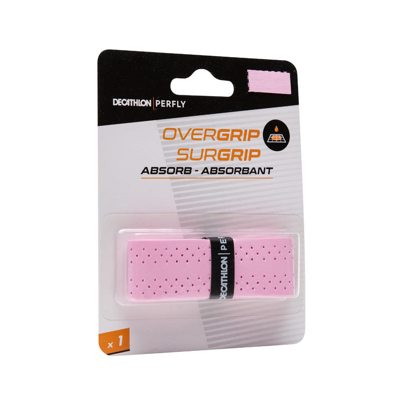 QuickDry Badminton Overgrip Single-Pack - Pink