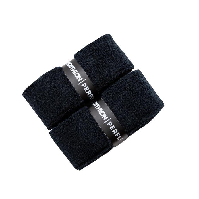 Badmintongrip in badstof zwart set van 2