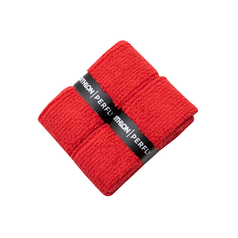 BADMINTON TOWEL GRIP x 2 RED