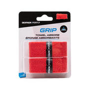BADMINTON TOWEL GRIP x 2 RED