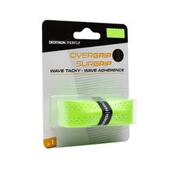 單入波浪型羽毛球拍握把布-螢光綠