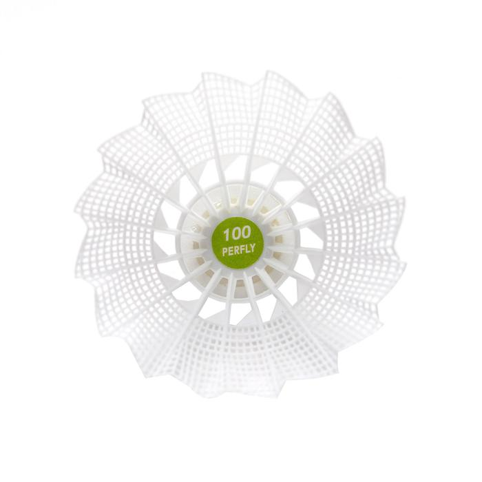 Volants de Badminton En Plastique PSC 100 x 3 - Orange/Jaune/Blanc