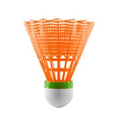 Lot De 3 Volants De Badminton En Plastique PSC 100 Medium - Blanc/Gris/Orange