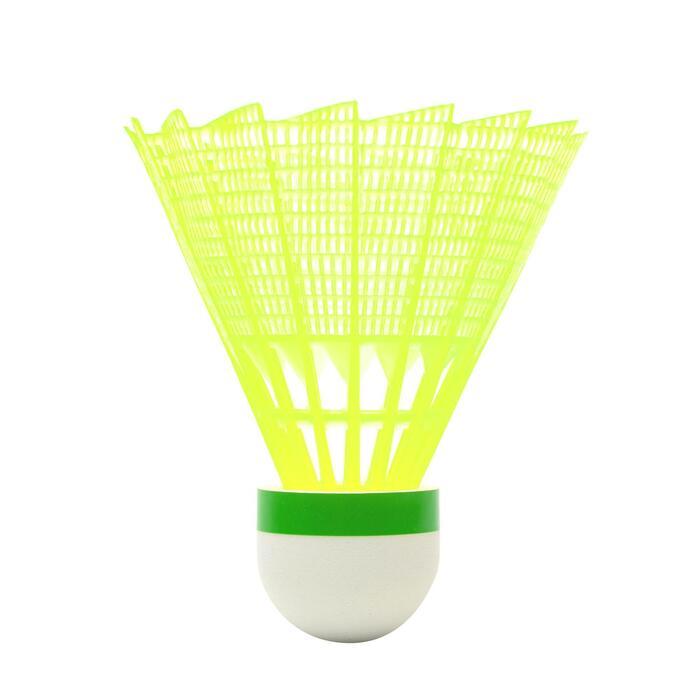 中速塑膠羽毛球PSC 100(3入)-黃色