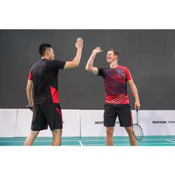 T-Shirt de Badminton Homme 560 - Noir/Rouge