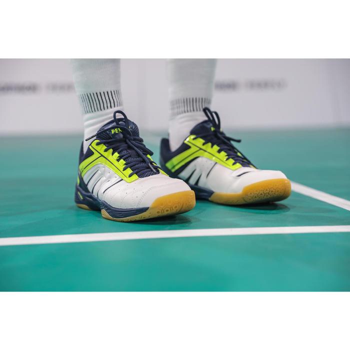 Badmintonschoenen Lite voor heren wit geel