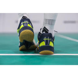 Badmintonschuhe BS 560 Lite Herren weiß/gelb