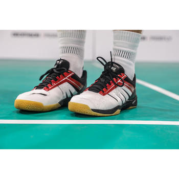 Badmintonschoenen voor heren Lite wit/rood