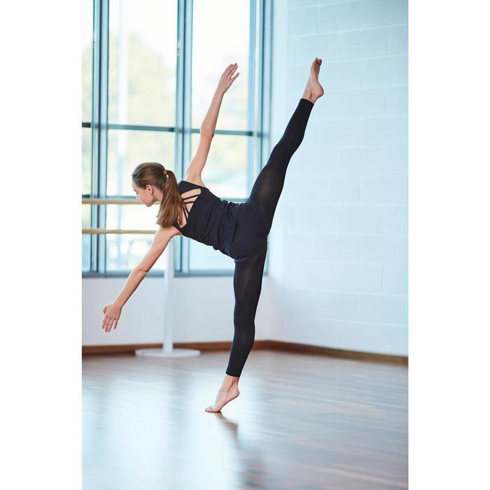 Topje met open rug voor moderne dans meisjes zwart
