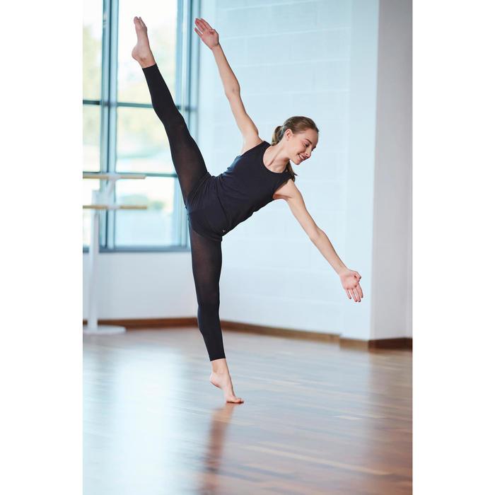 Débardeur noir de danse moderne fille ajouré au dos
