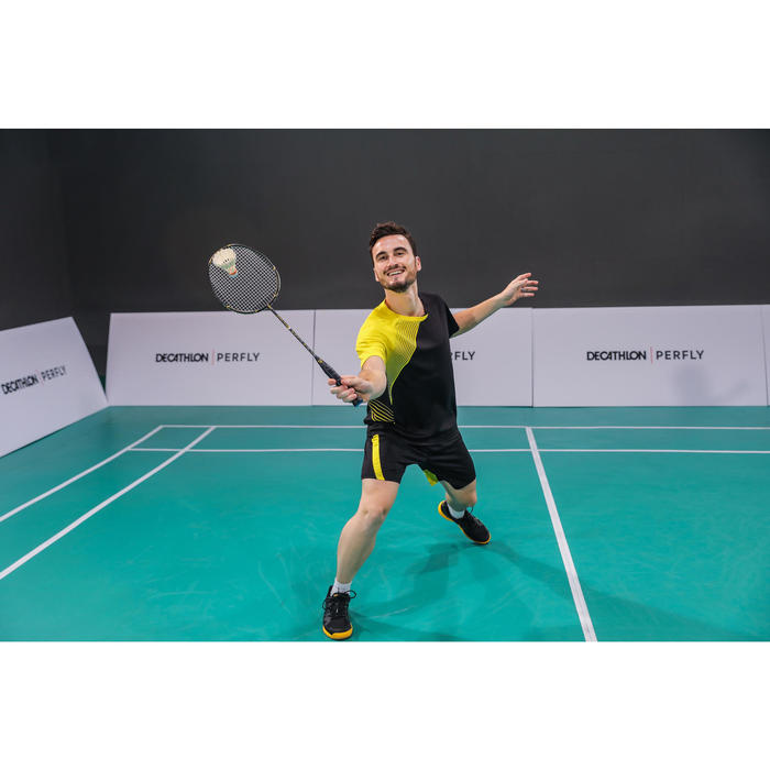 Badmintonschläger BR 500 Erwachsene schwarz/gelb