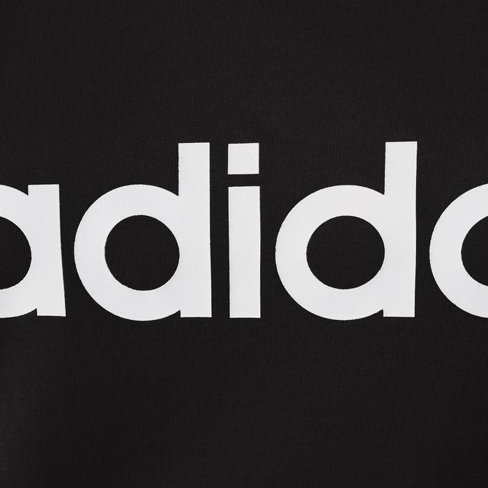 T-Shirt Adidas 500 Pilates Gym douce femme noir/blanc