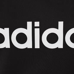 T-shirt Adidas 500 pilates lichte gym dames zwart/wit
