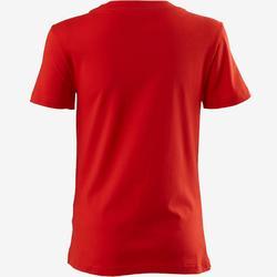Camiseta Manga Corta Gimnasia Pilates Adidas 500 Mujer Roja