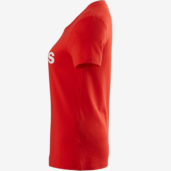T-Shirt Adidas 500 Pilates Gym douce femme rouge/blanc