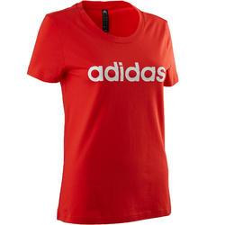 T-Shirt Damen rot/weiß