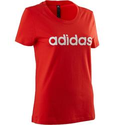 T-shirt Adidas 500 pilates lichte gym dames rood/wit
