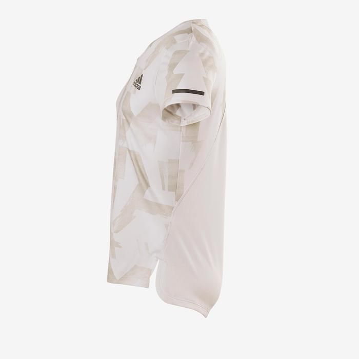 Camiseta De Manga Corta Gimnasia Adidas Transpirable Niña Blanco Estampado bc8bc8a378a16