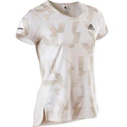 Camiseta De Manga Corta Gimnasia Adidas Transpirable Niña Blanco Estampado 0f7b623f93b50